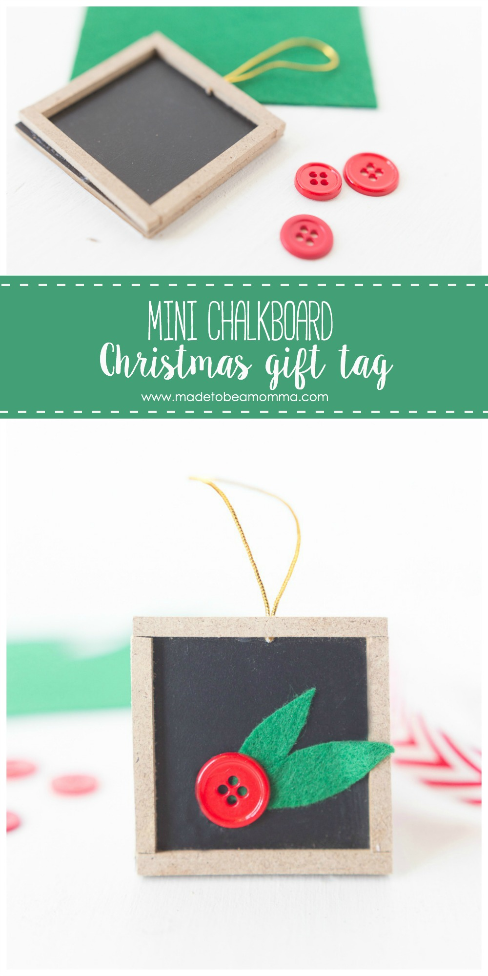 Mini Chalkboard Christmas Gift Tag by Made to be a Momma