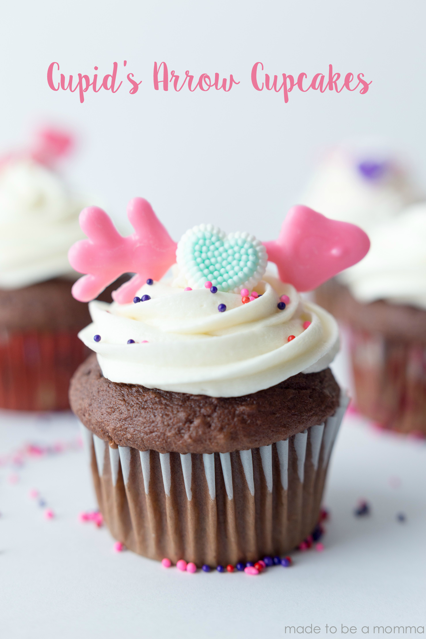 These Cupid's Arrow Cupcakes are a fun way to spread the love during this fun Valentine's Day Holiday.