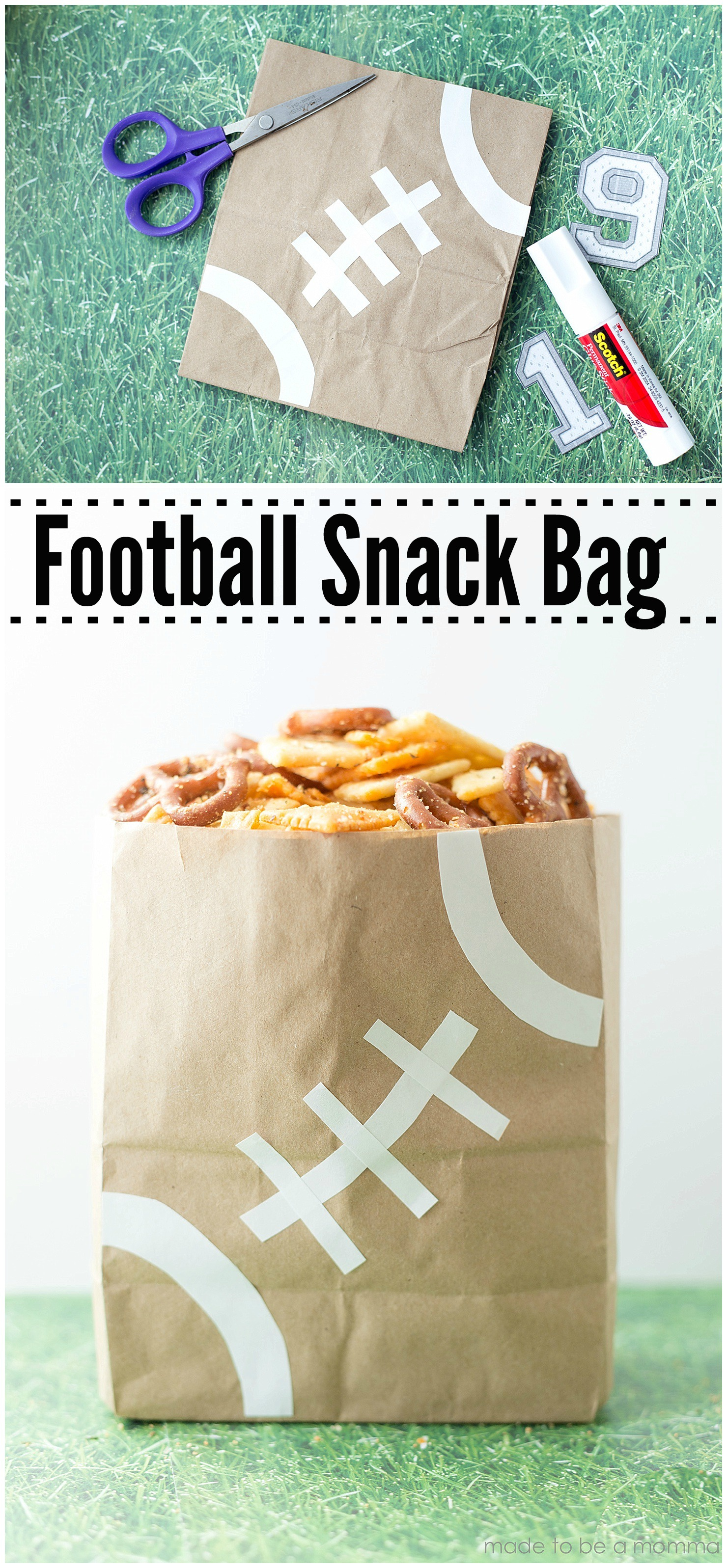 Football Snack Bag easy superbowl party idea