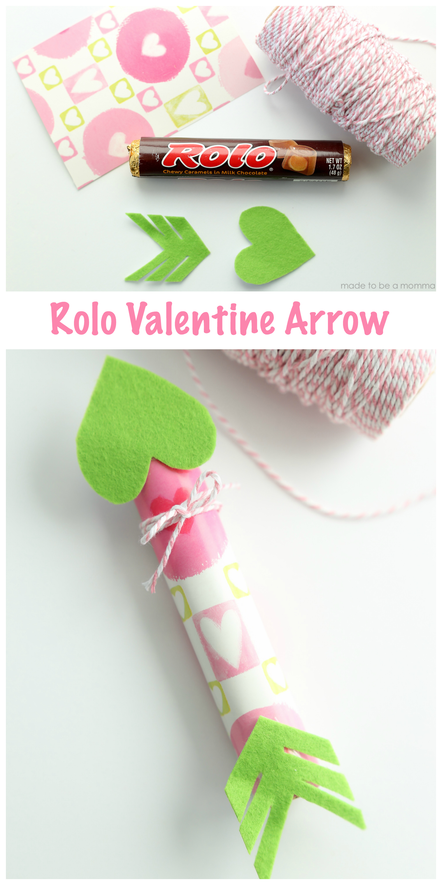 Rolo Valentine Arrow: a simple way to share a sweet treat with your loved ones and celebrate Valentines Day.
