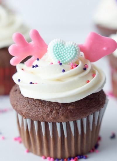Cupid's Arrow Cupcakes