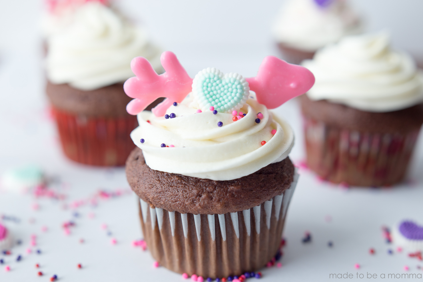 Cupid's Arrow Cupcakes - Made To Be A Momma