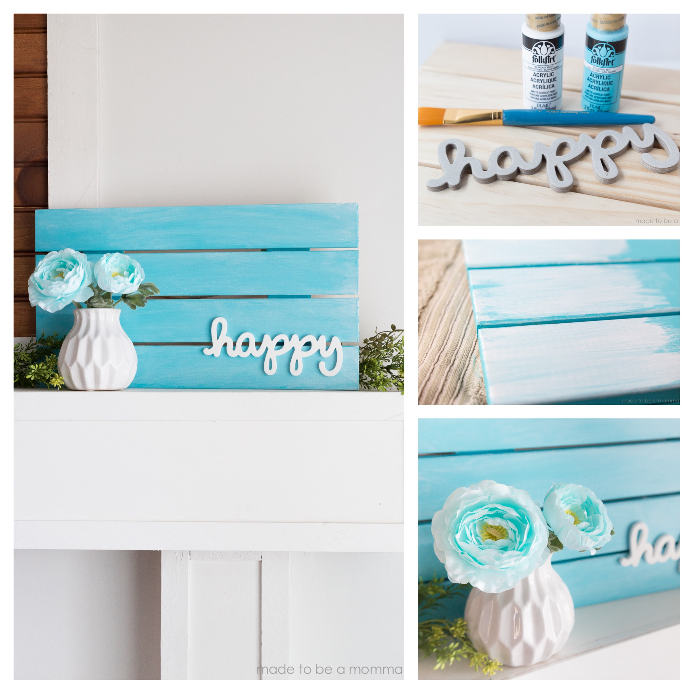 Pallet Sign Home Decor