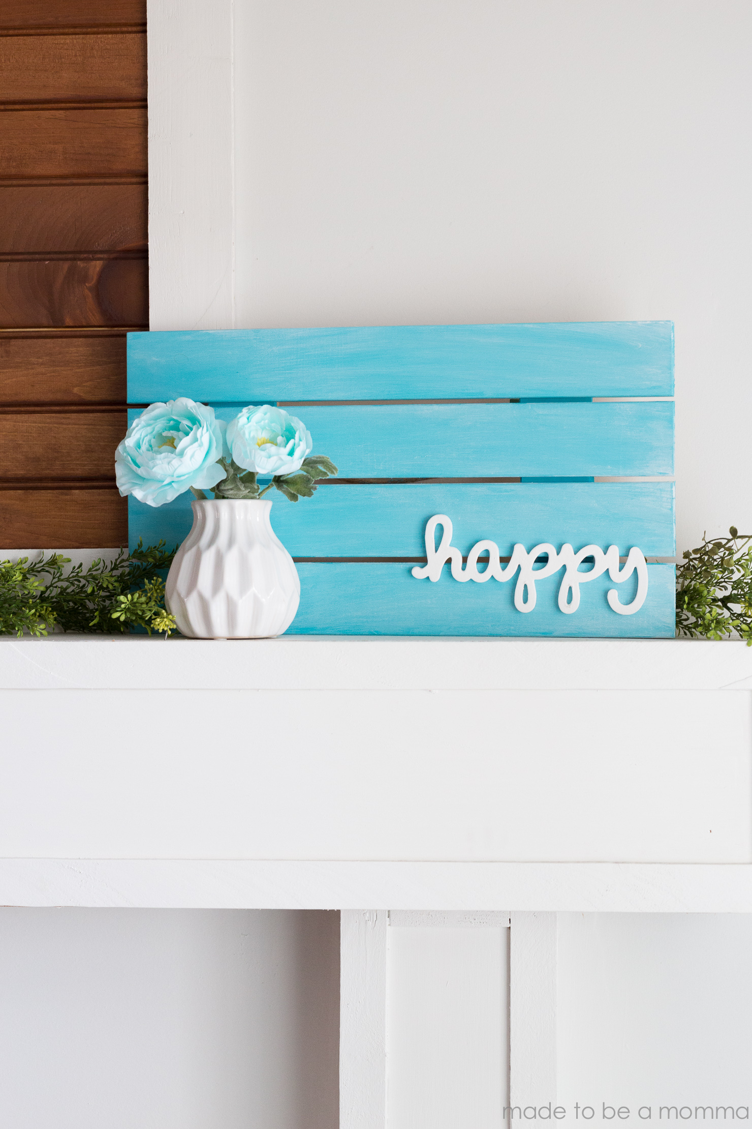 Superbe I Love The Beautiful Simplicity Of This Pallet Home Decor Sign. The Pop Of  Color