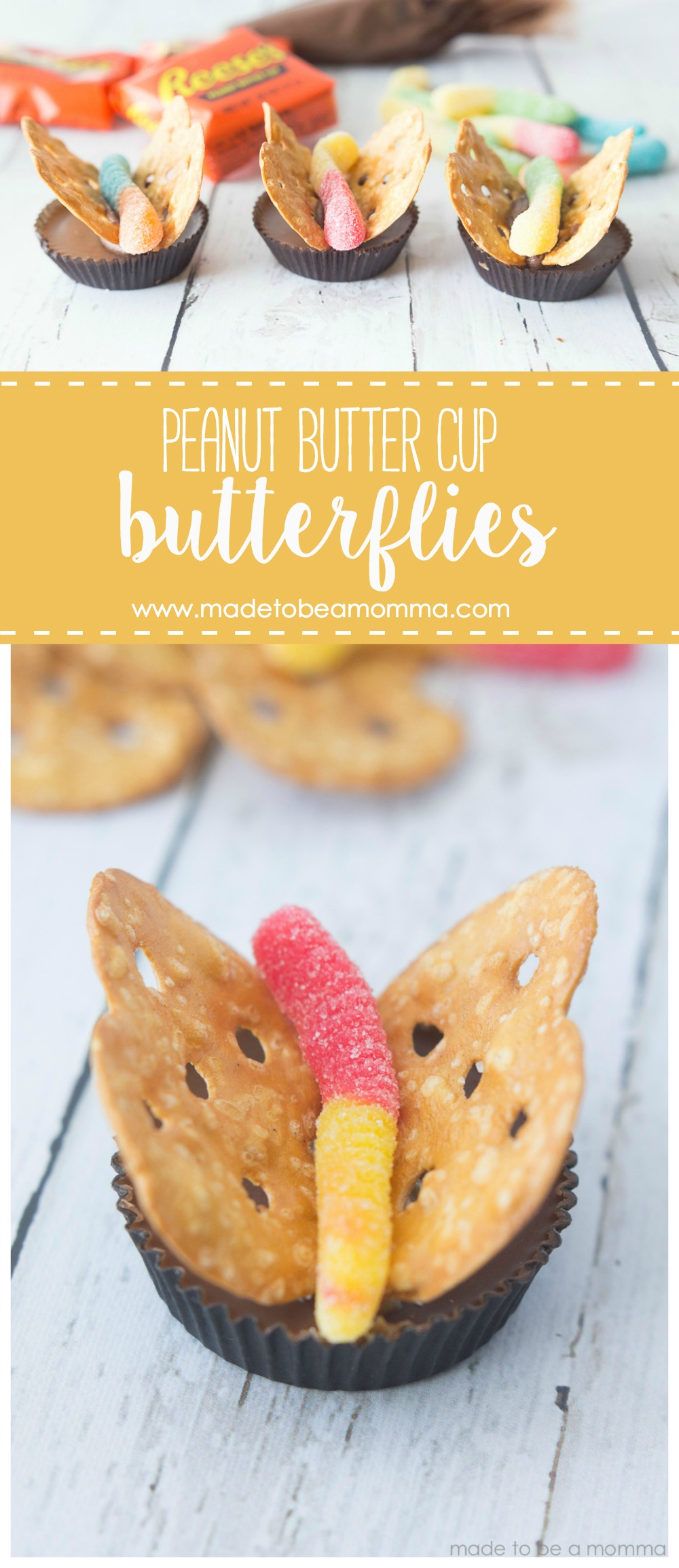 Peanut Butter Cup Butterflies are the perfect kids treats to welcome spring!