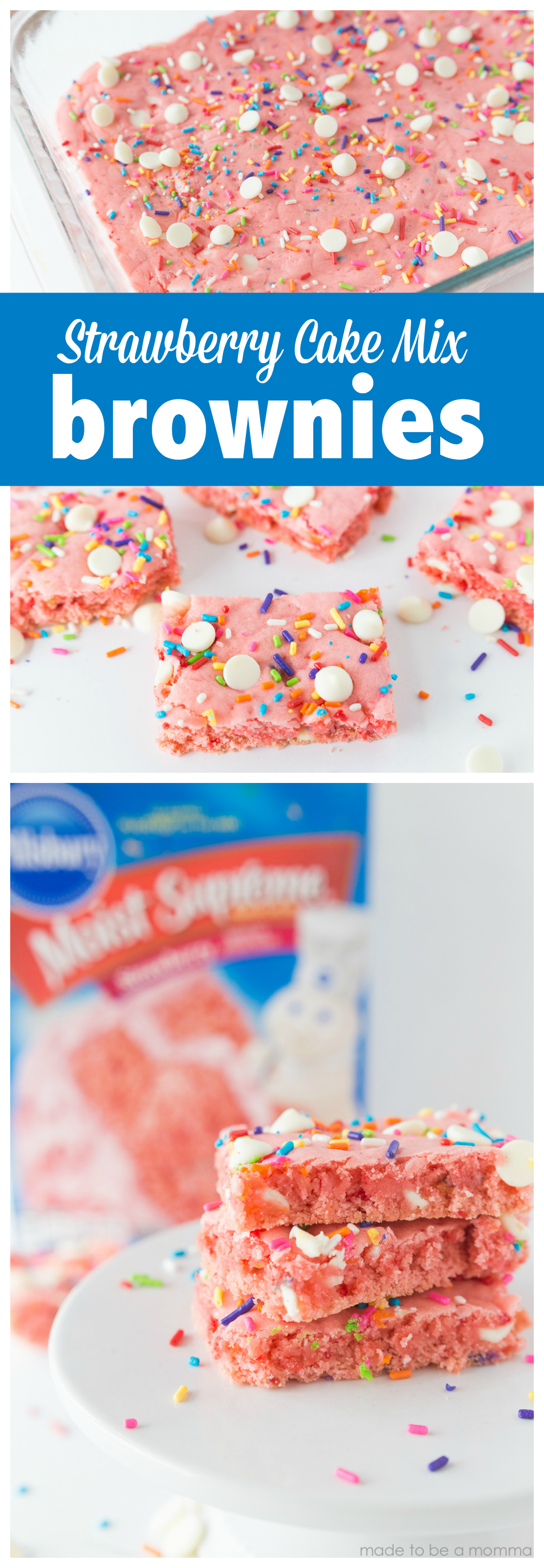 Strawberry Cake Mix Brownies A Fun And Simple Treat Idea By Using