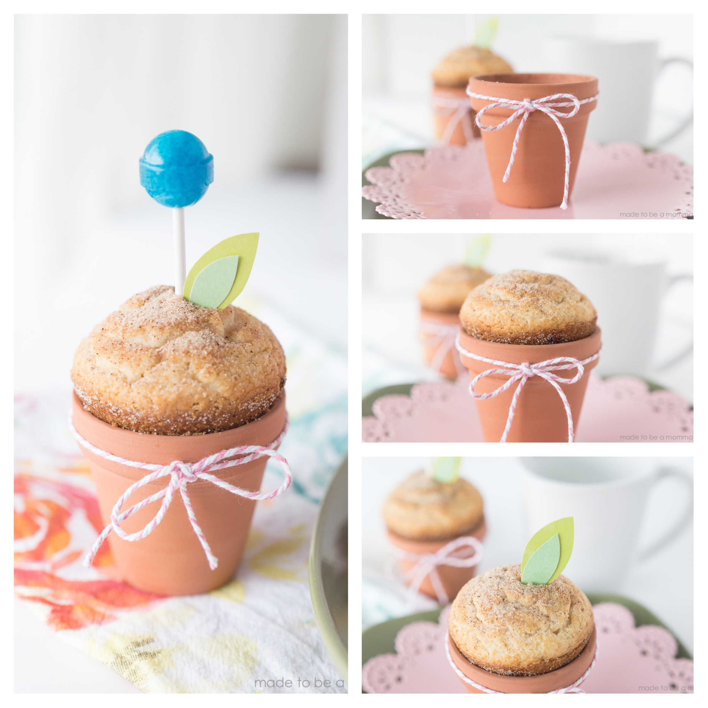 Terra Cotta Pot Flower Muffins: the perfect place setting at any spring or summer time brunch!