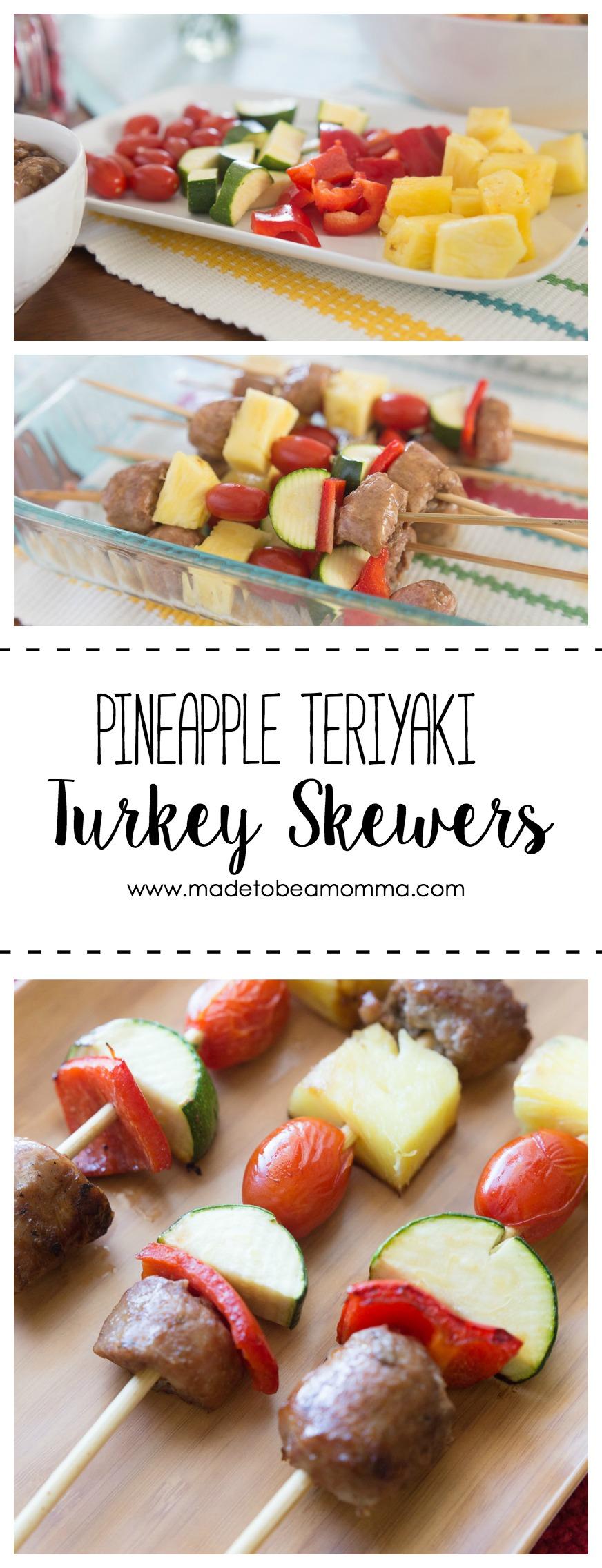 Pineapple Teriyaki Skewers