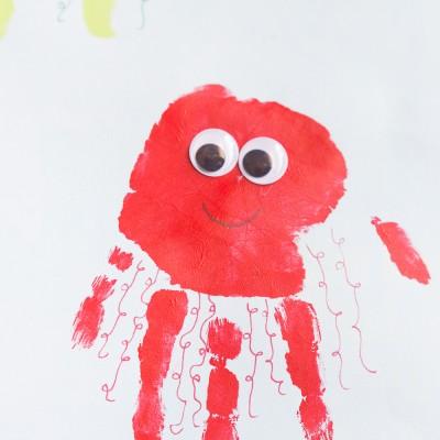 Kids Handprint Jellyfish Art