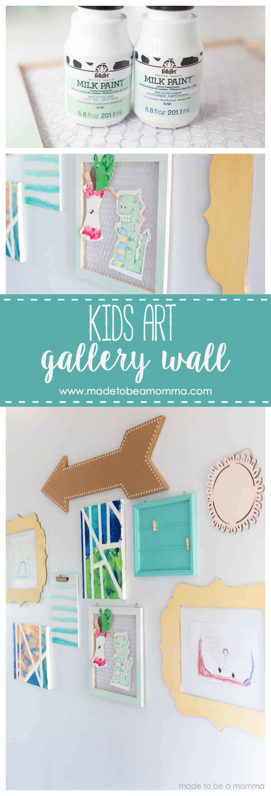 Kids Art Gallery Wall