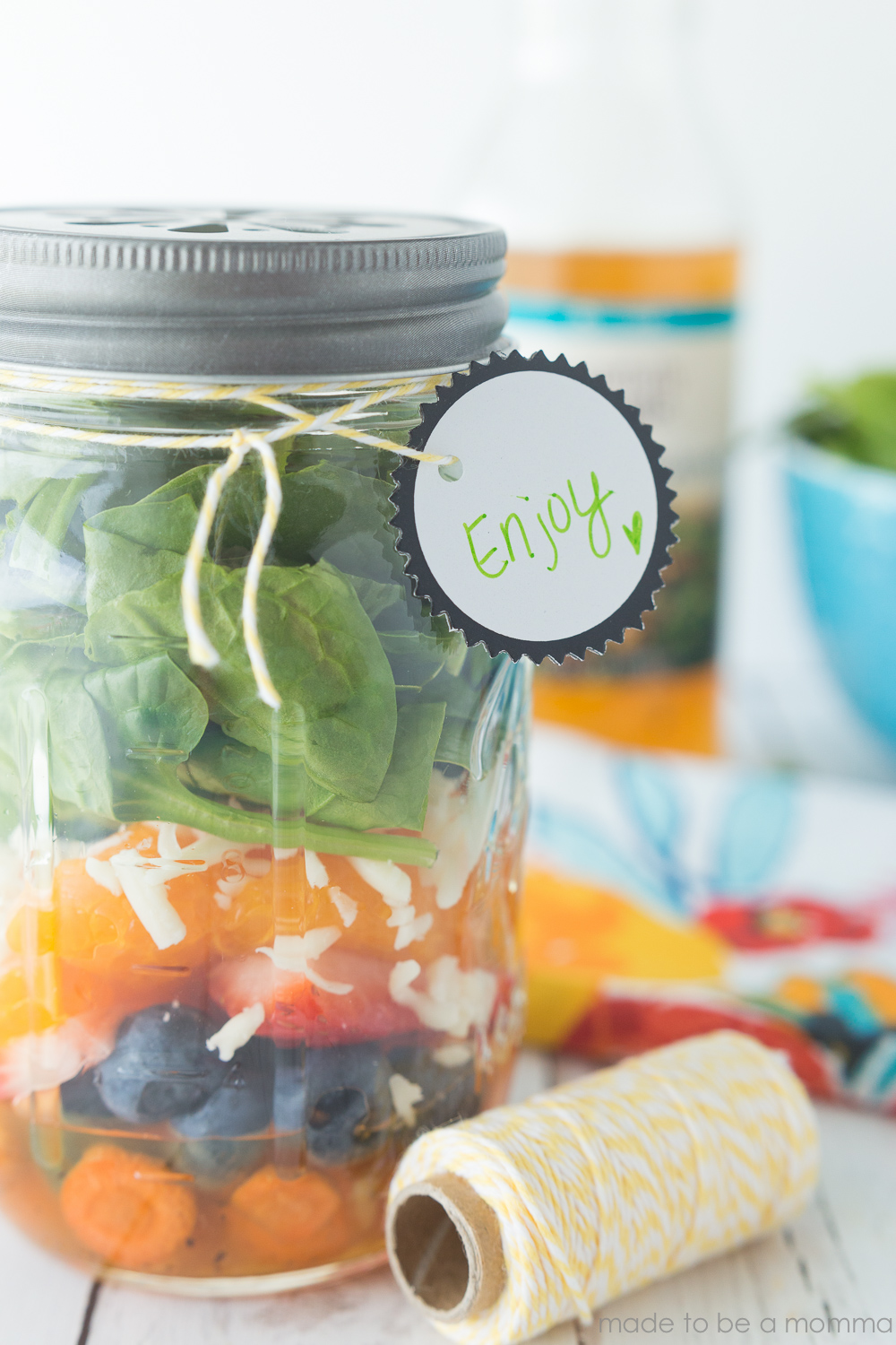 Mason Jar Sweet Citrus Salad: a fun and inexpensive way to package a delicious salad for a girls night out!