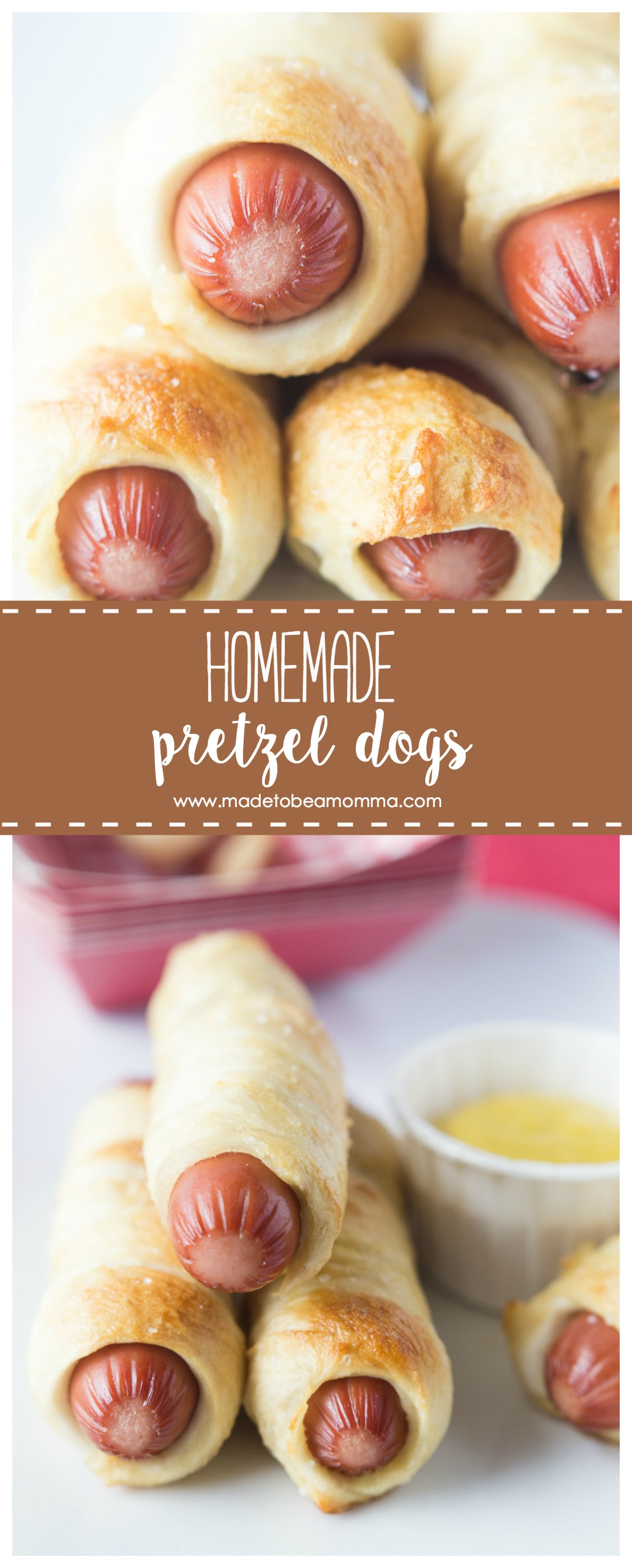 Homemade Pretzel Dogs