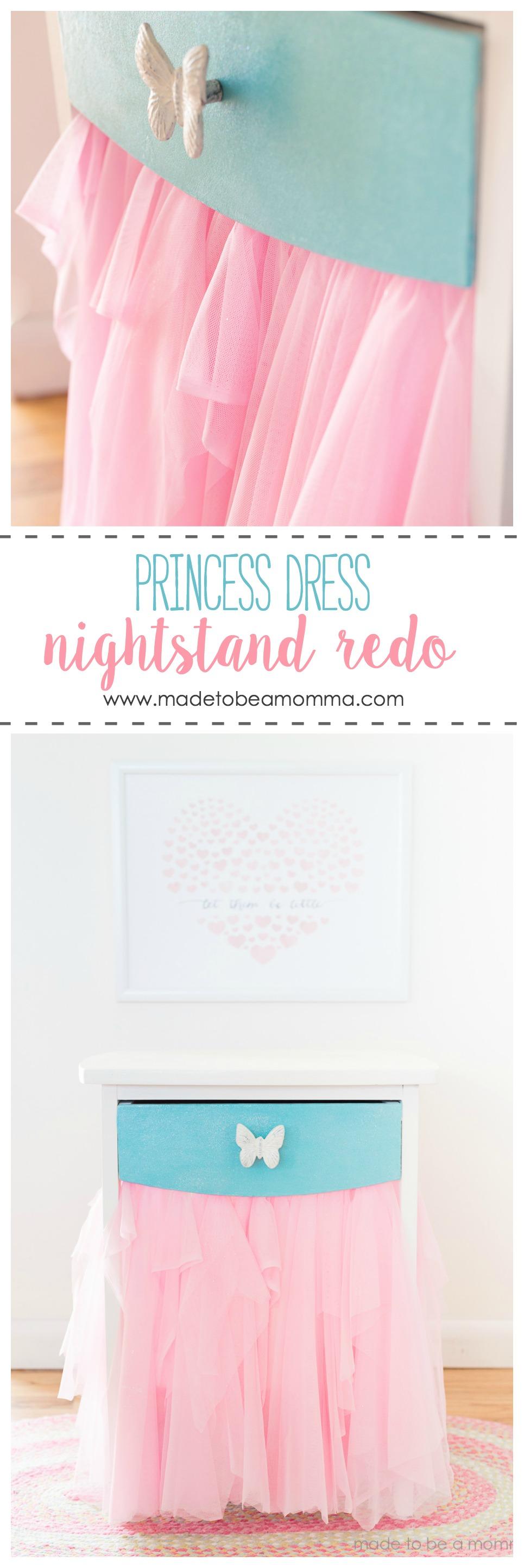 Princess Dress Nightstand Redo