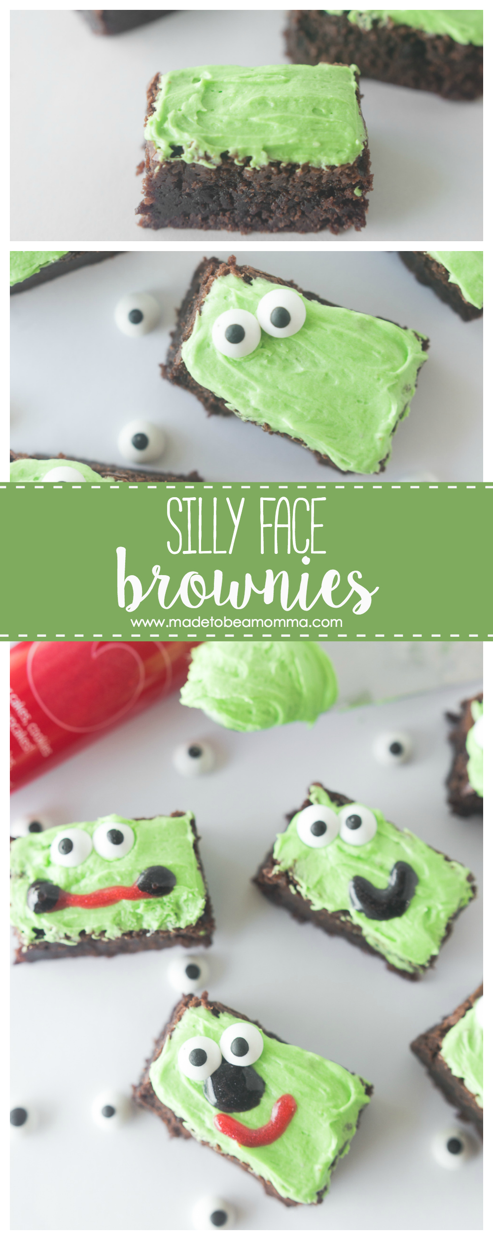 Silly Face Brownies: let these silly face brownies bright up your childs day. They make for a delicious afternoon snack and are a recipe even the kids can enjoy making!