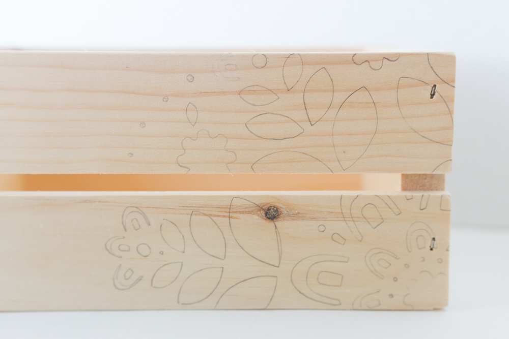 Woodburn Flower crate