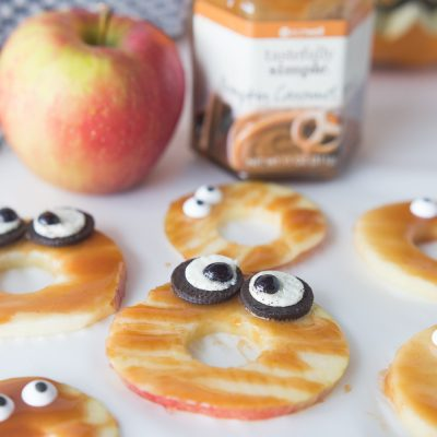 Caramel Spooky Apples