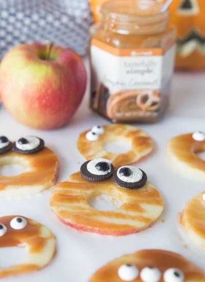 Caramel Spooky Apples