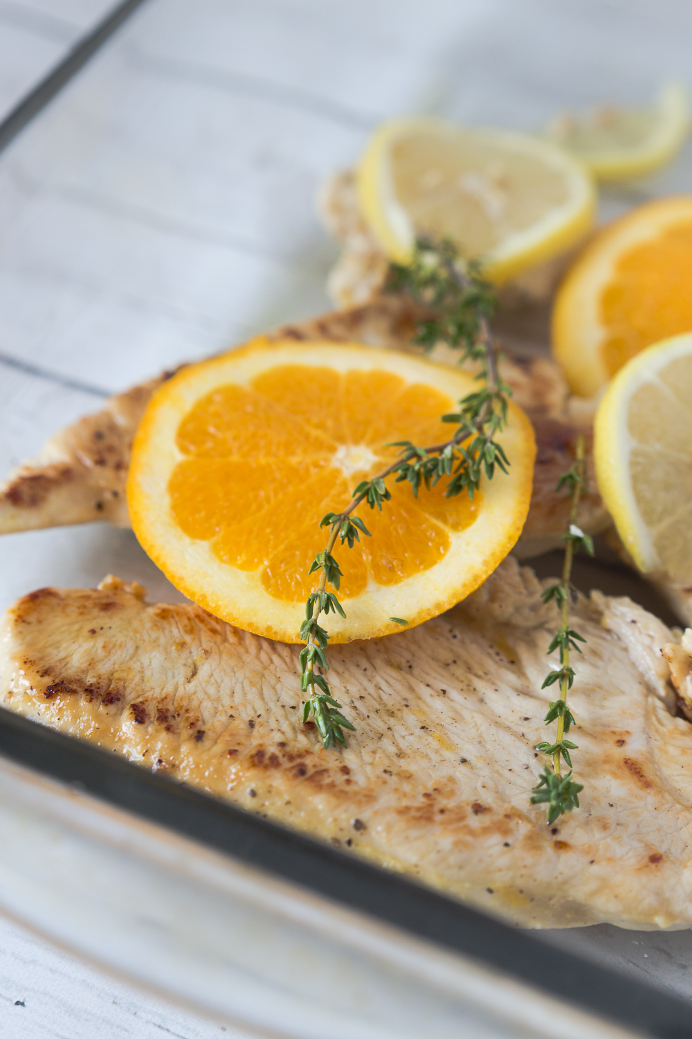 Orange & Thyme Turkey Breast Cutlets are your perfect easy weeknight dinner solution. Turkey, fresh herbs, and citrus flavors makes for a delicious dish! www.madetobeamomma.com