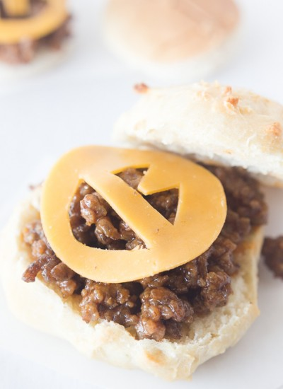 Mini Jack-O-Lantern Sloppy Joe Bites