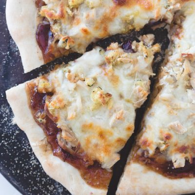 Thanksgiving Leftovers Turkey Pizza
