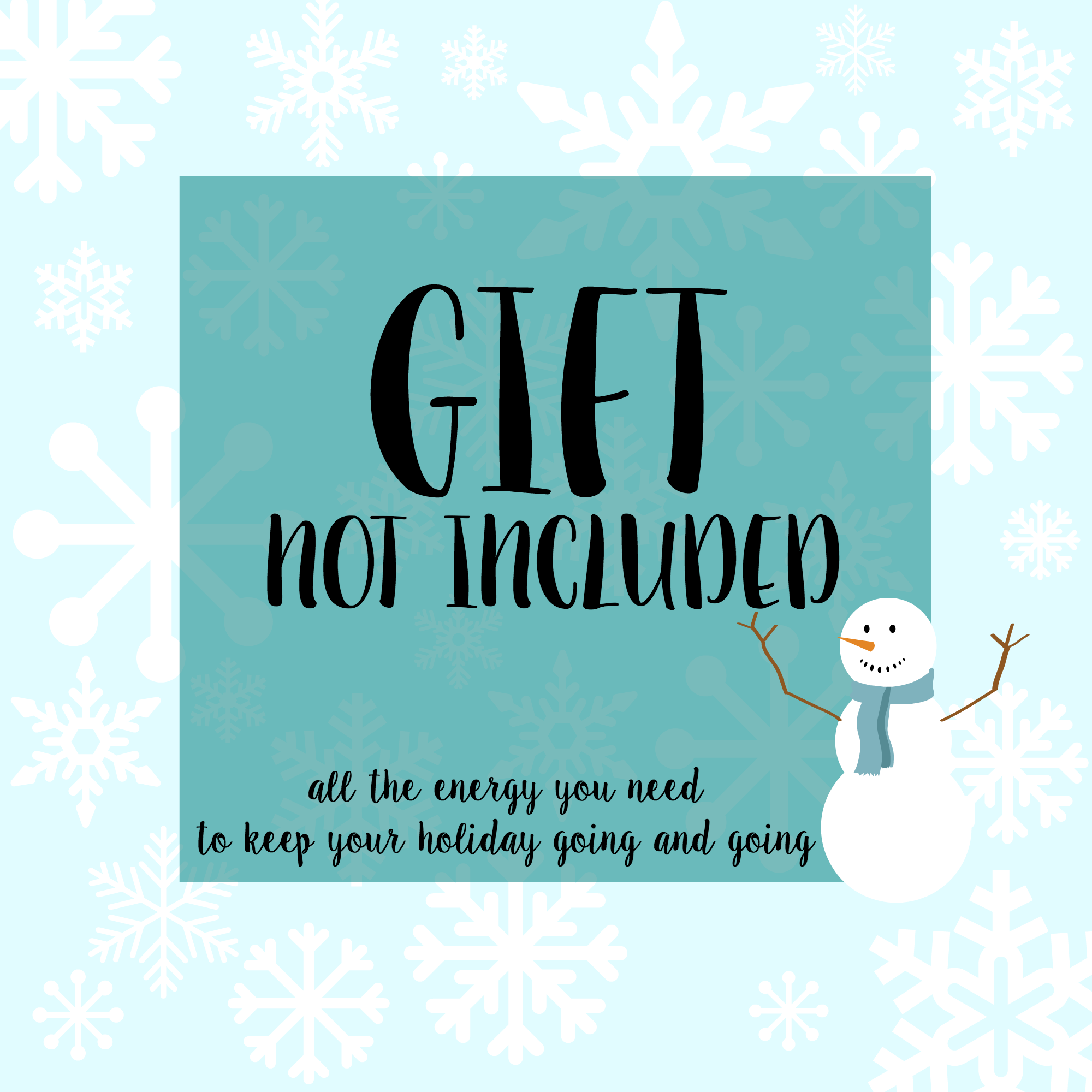 photo regarding Gift Not Included Printable referred to as Reward Not Integrated\