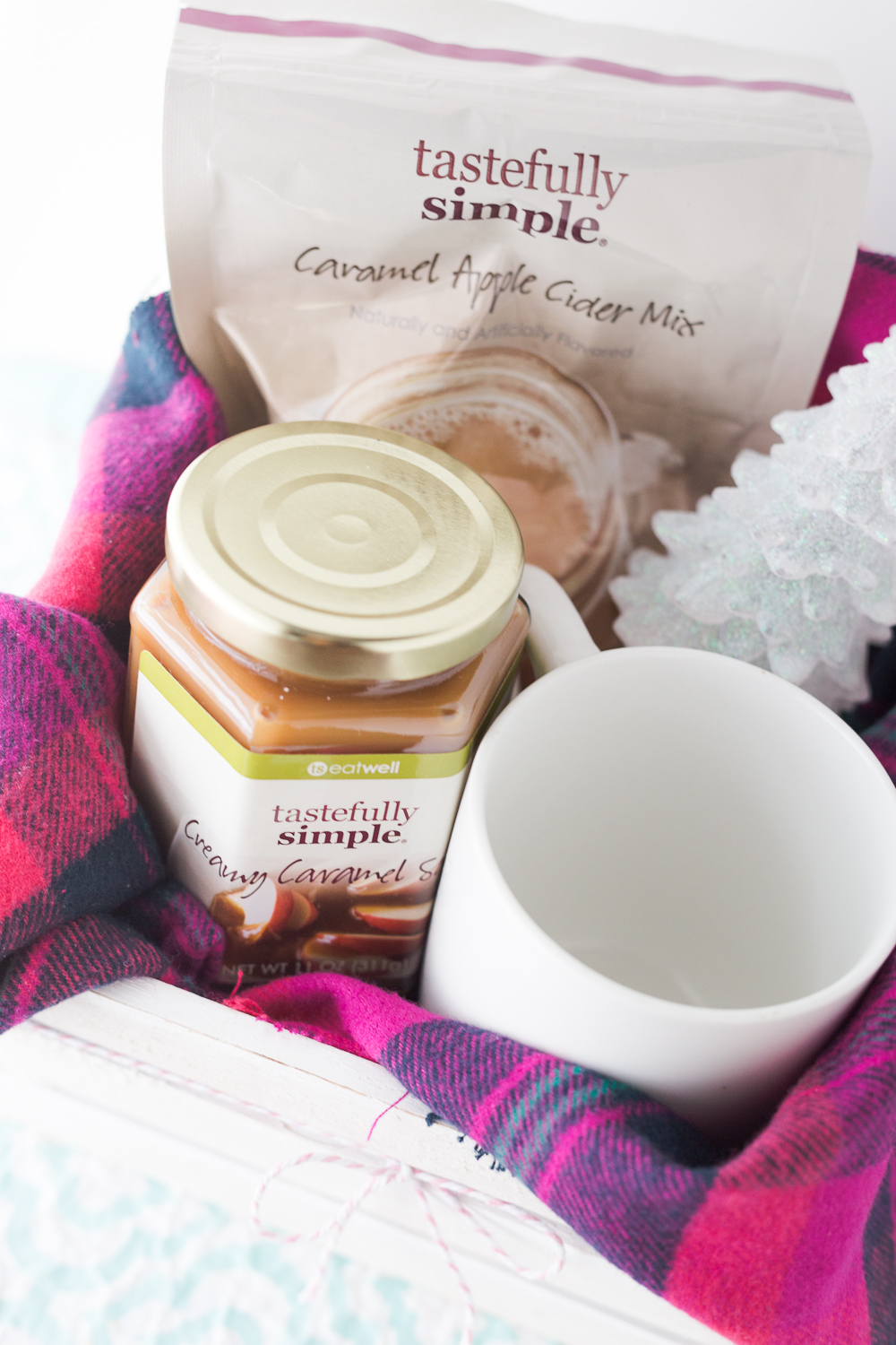 This Caramel Apple Cider makes for a great Warm Wishes Gift Basket. It's perfect for family, friends and neighbors.