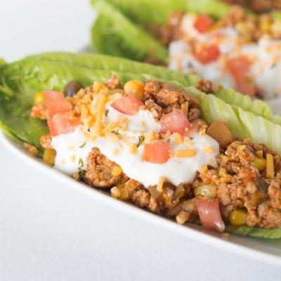 Turkey Taco Lettuce Wraps