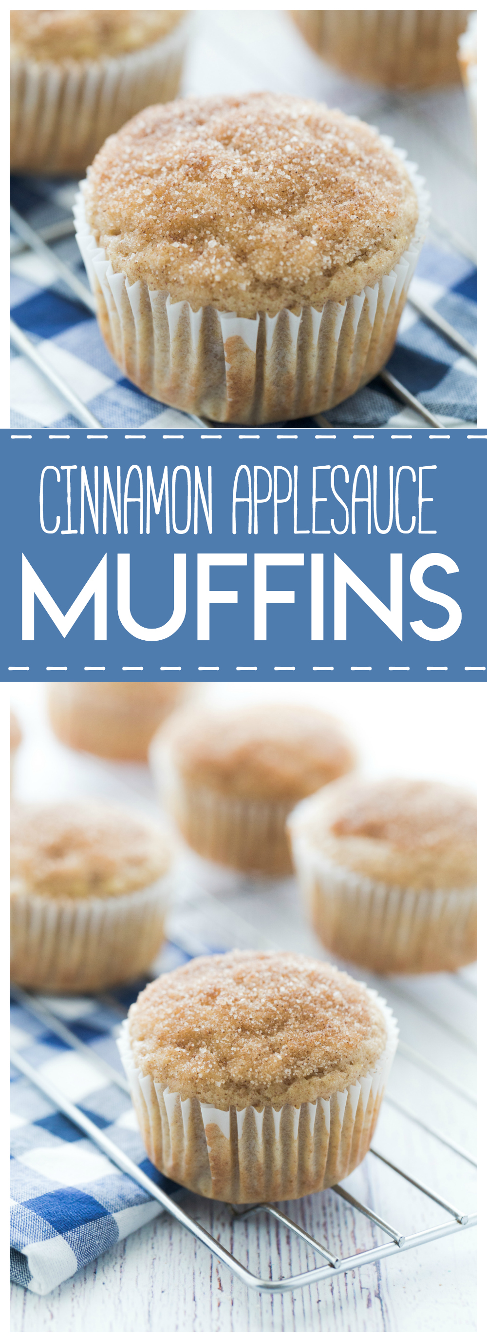 Cinnamon Applesauce Muffins: delicious and simple muffins that are bursting with a sweet cinnamon flavor.