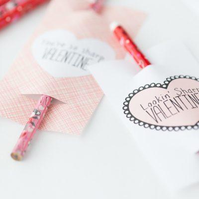 Pencil Valentine: Free Printable