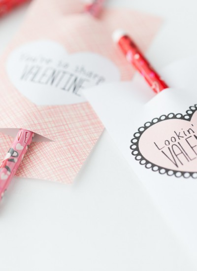 Pencil Valentine: Free Printable