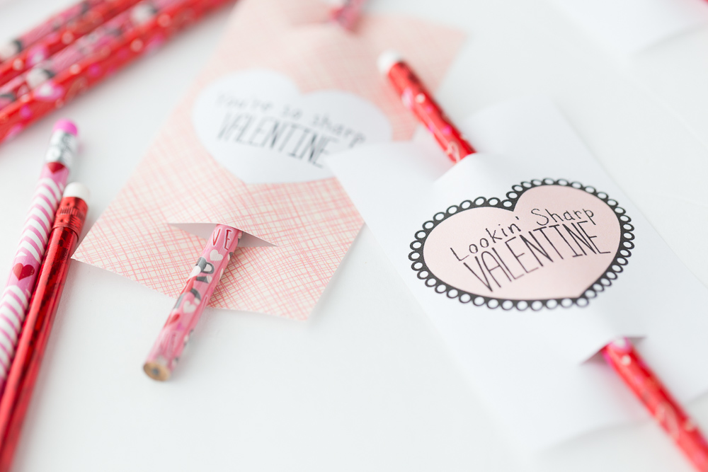 image about Valentines Free Printable identify Pencil Valentine: Totally free Printable - Built Toward Be A Momma