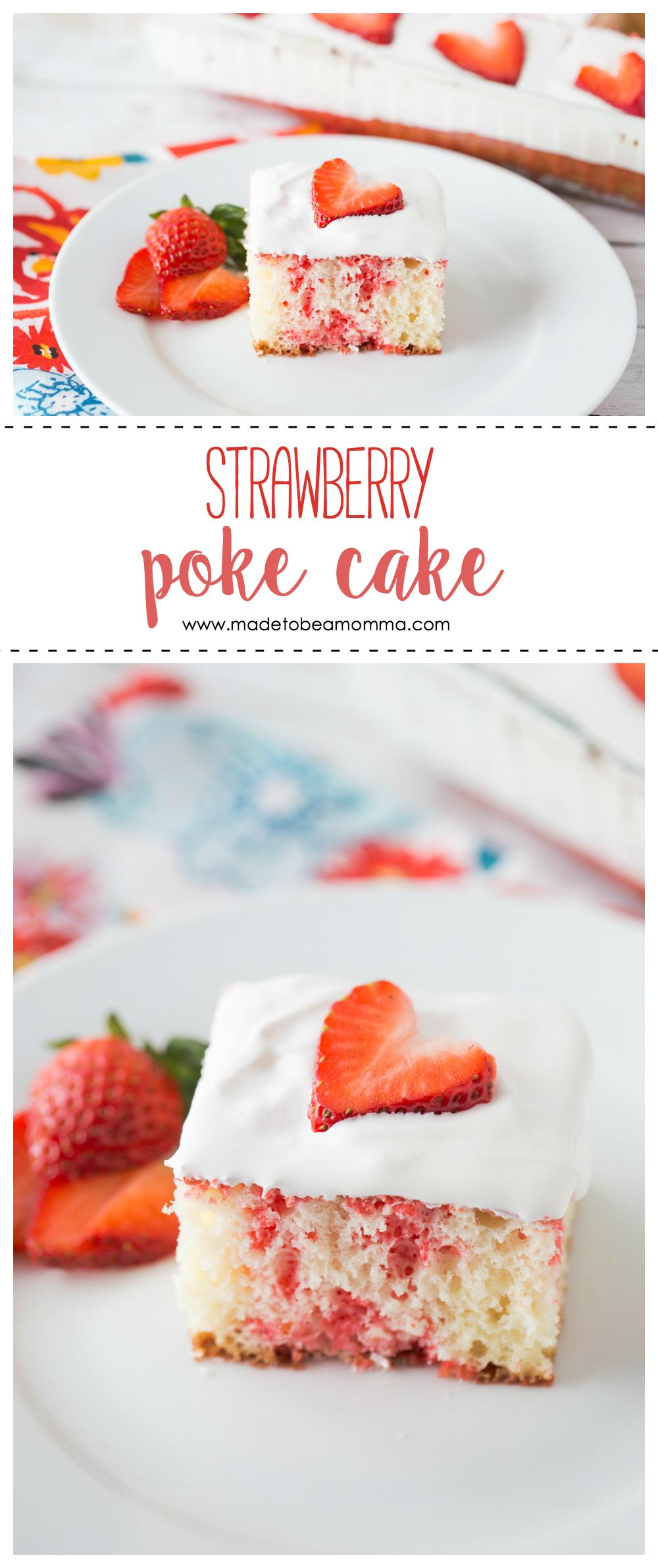 Strawberry Poke Cake | Poke Cake | Jello Cake | Dessert