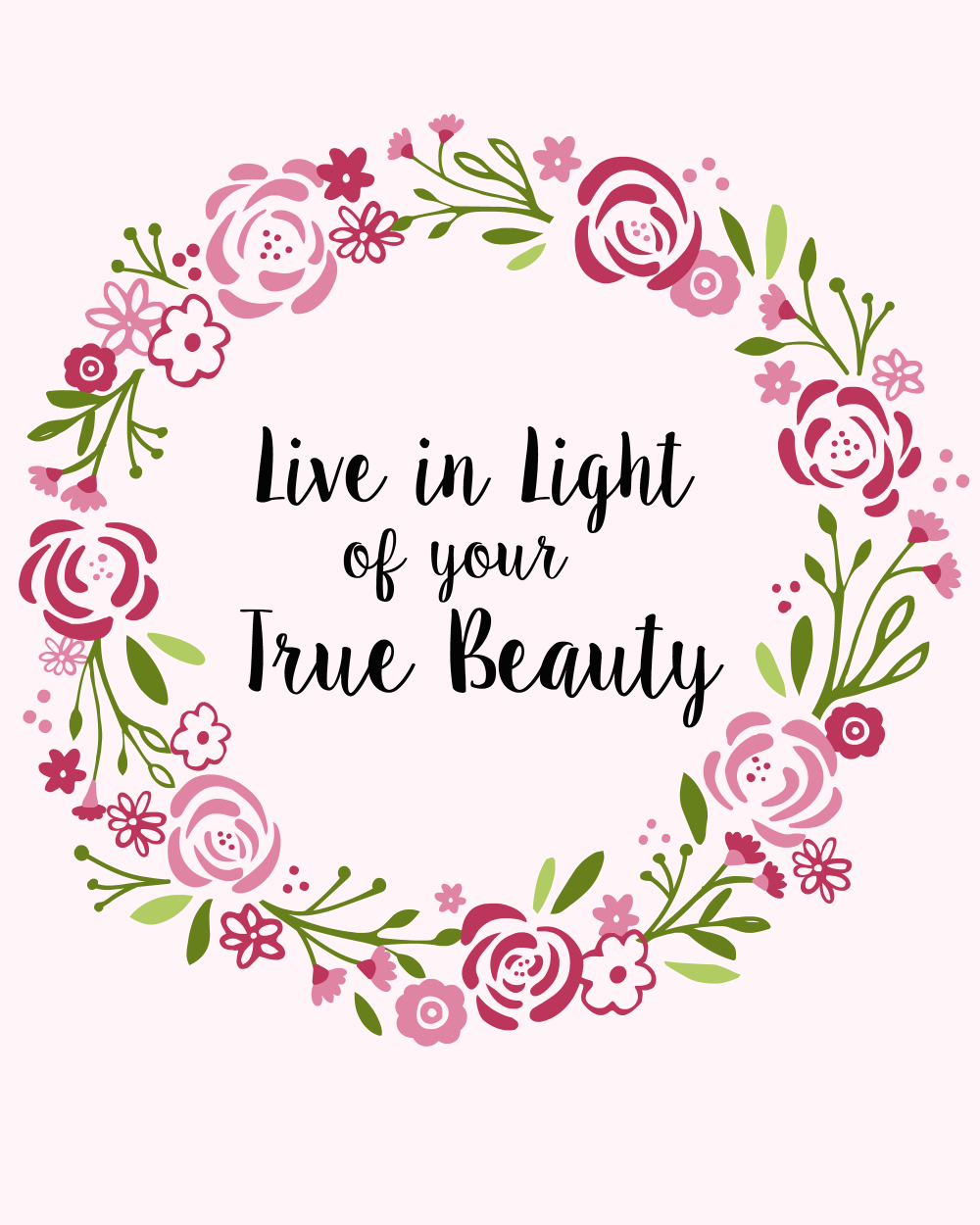 Unleash True Beauty FREE PRINTABLE