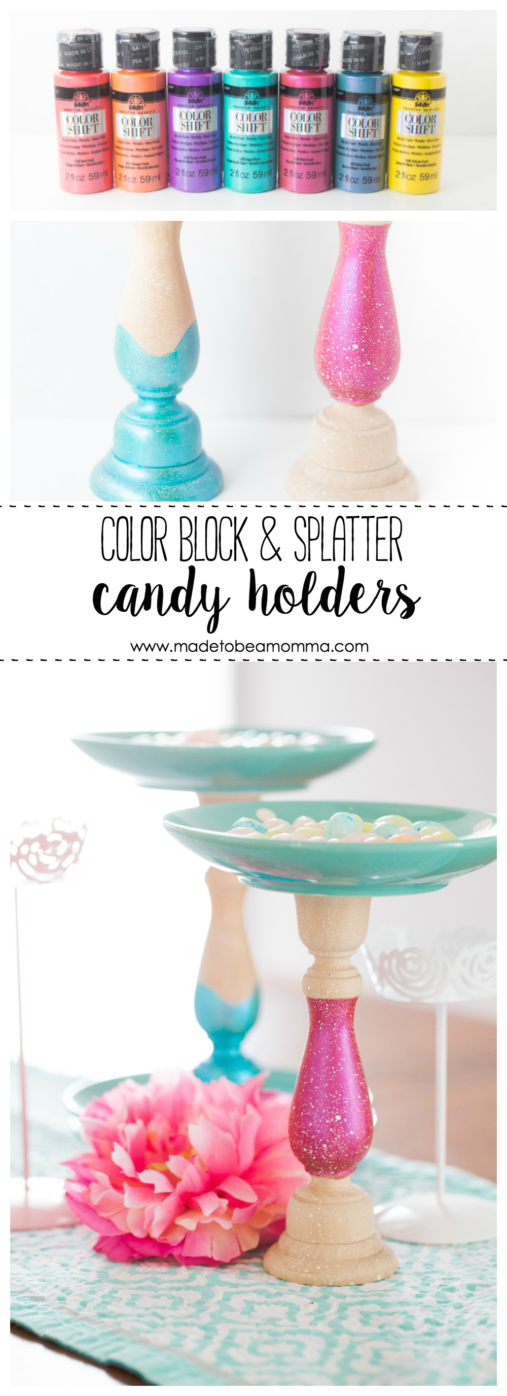 Candlestick Candy Holder | Wood Crafts | Crafts | Paint Crafts