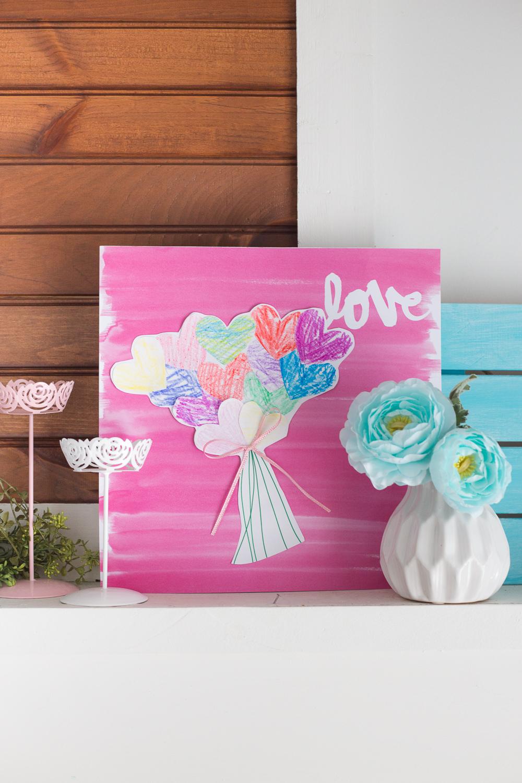 Paper Heart Bouquet | Kids Craft | Paper Crafts | Valentines Day | www.madetobeamomma.com