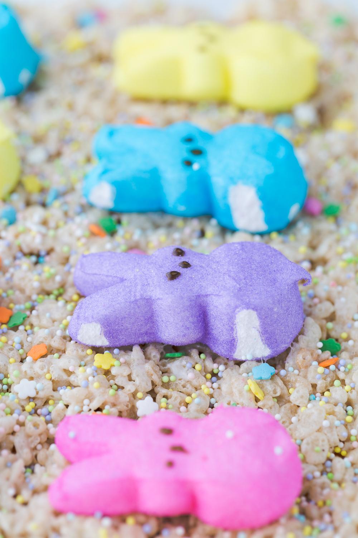Easter Rice Krispie Treats | Bunny Peeps | Kids Treats | Marshmallow Treats