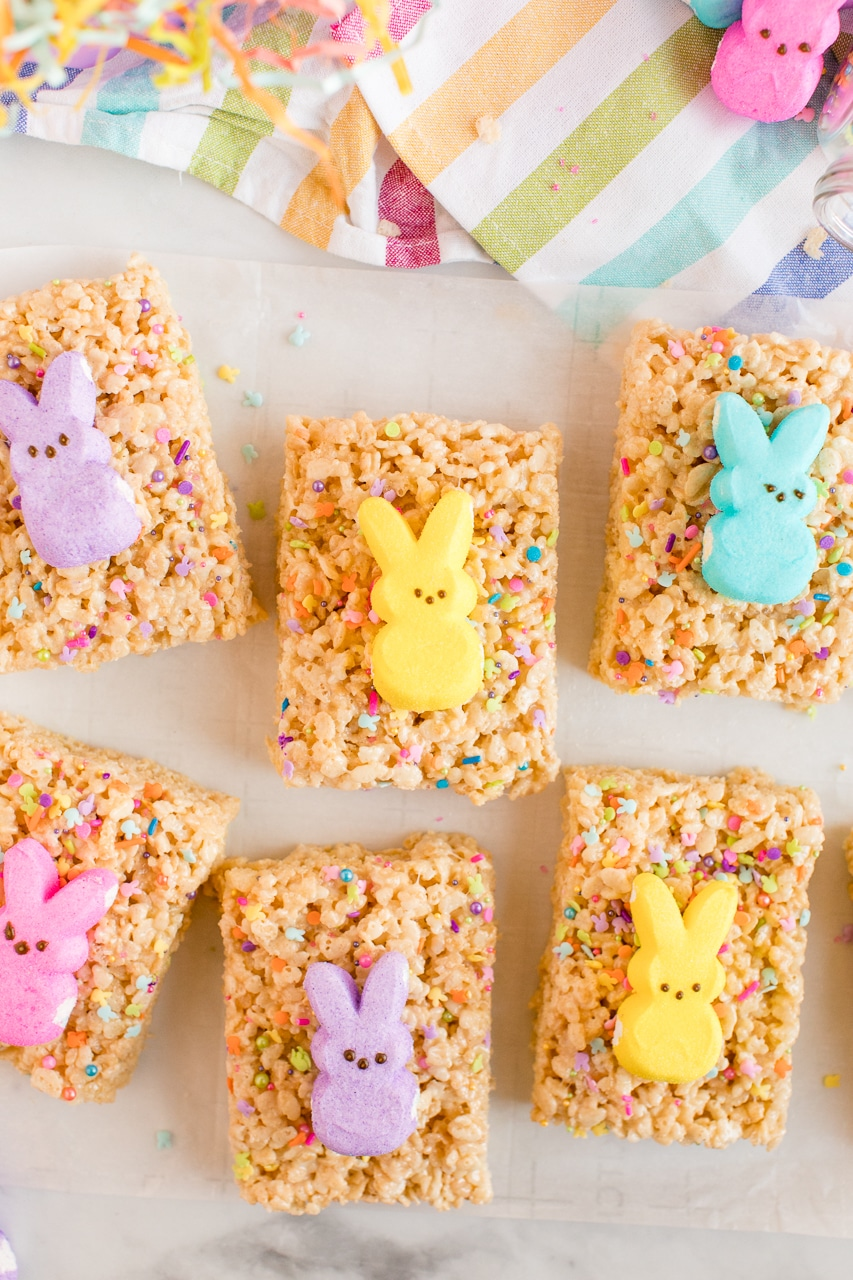 Easter Rice Krispie Treats With Bunny Peeps Made To Be A Momma
