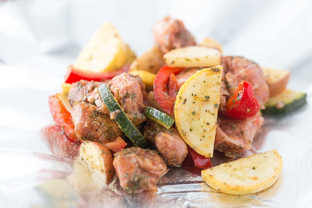 Foil Packet Meal | Turkey Sausage | Veggies | Camping Food |