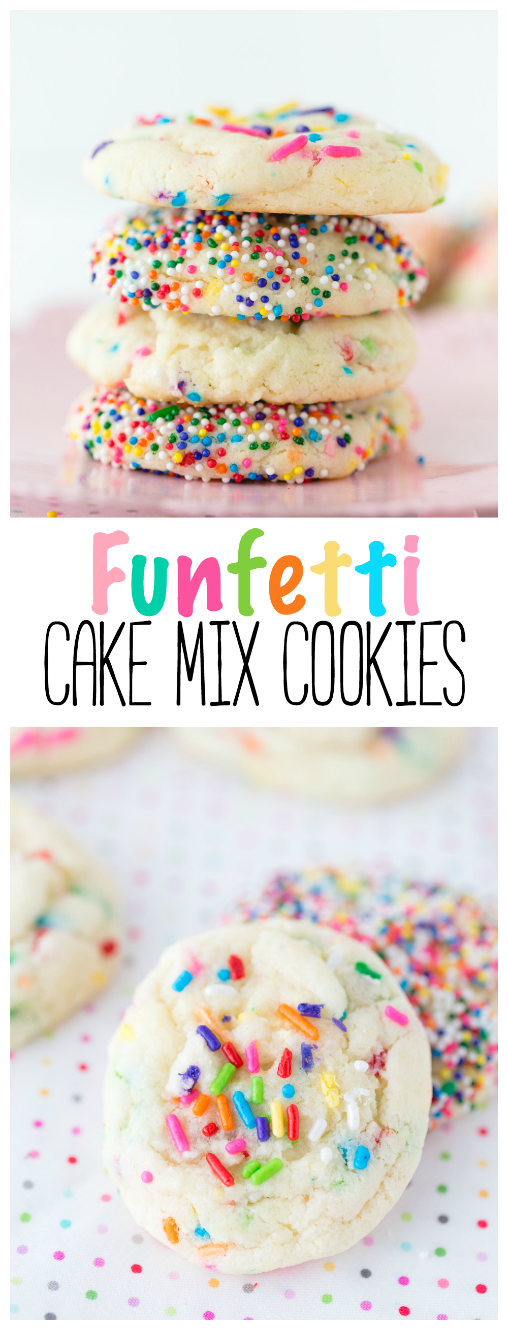 Funfetti Cake Mix Cookies | Cookies | Cake Mix Recipe | Cake Mix |