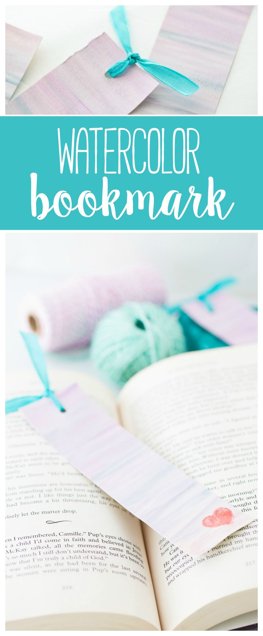 Watercolor Bookmark | DIY | Mothers Day | Mothers Day Craft
