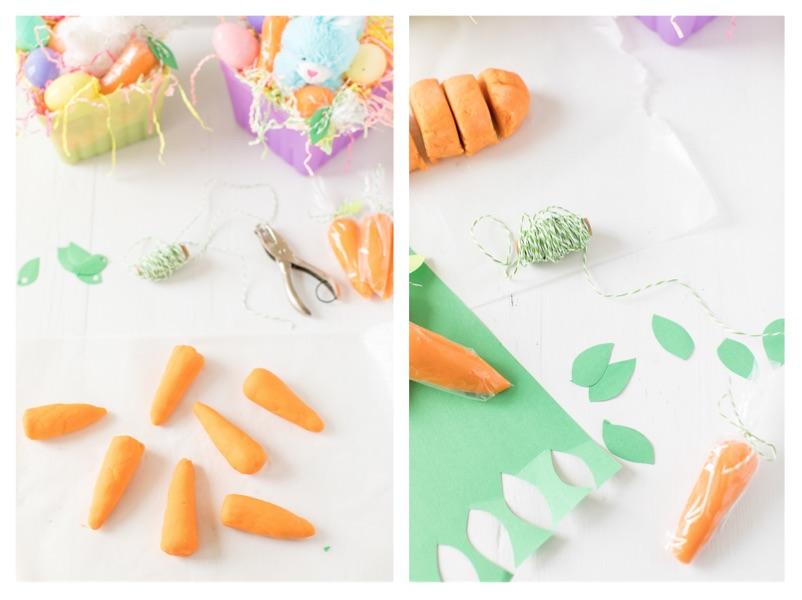 Carrot Playdough Process Steps