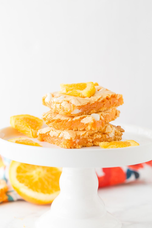 Orange Cake Mix Brownies