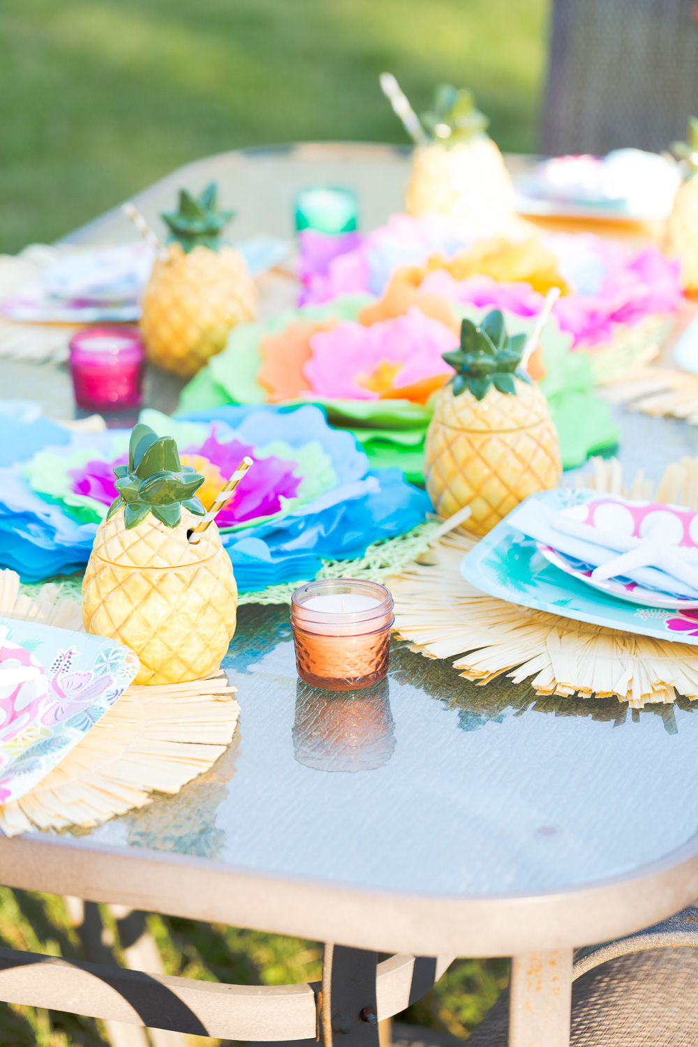 Girls night is extra fun when you are getting together Luau style!  These Luau party ideas are so fun to celebrate summer with your closet friends!