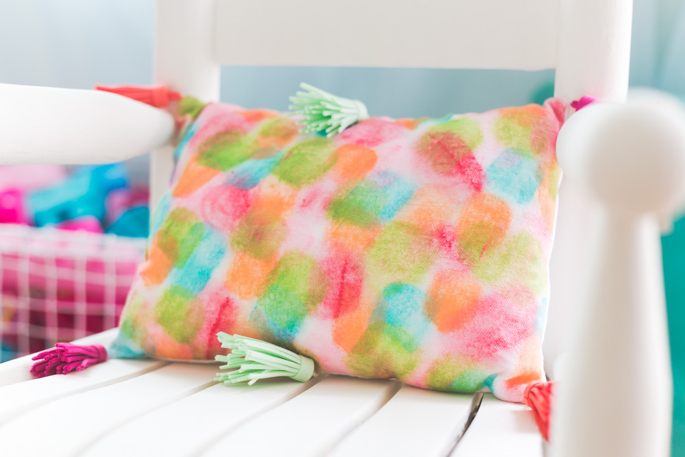 Paint Stroke Watercolor Pillow