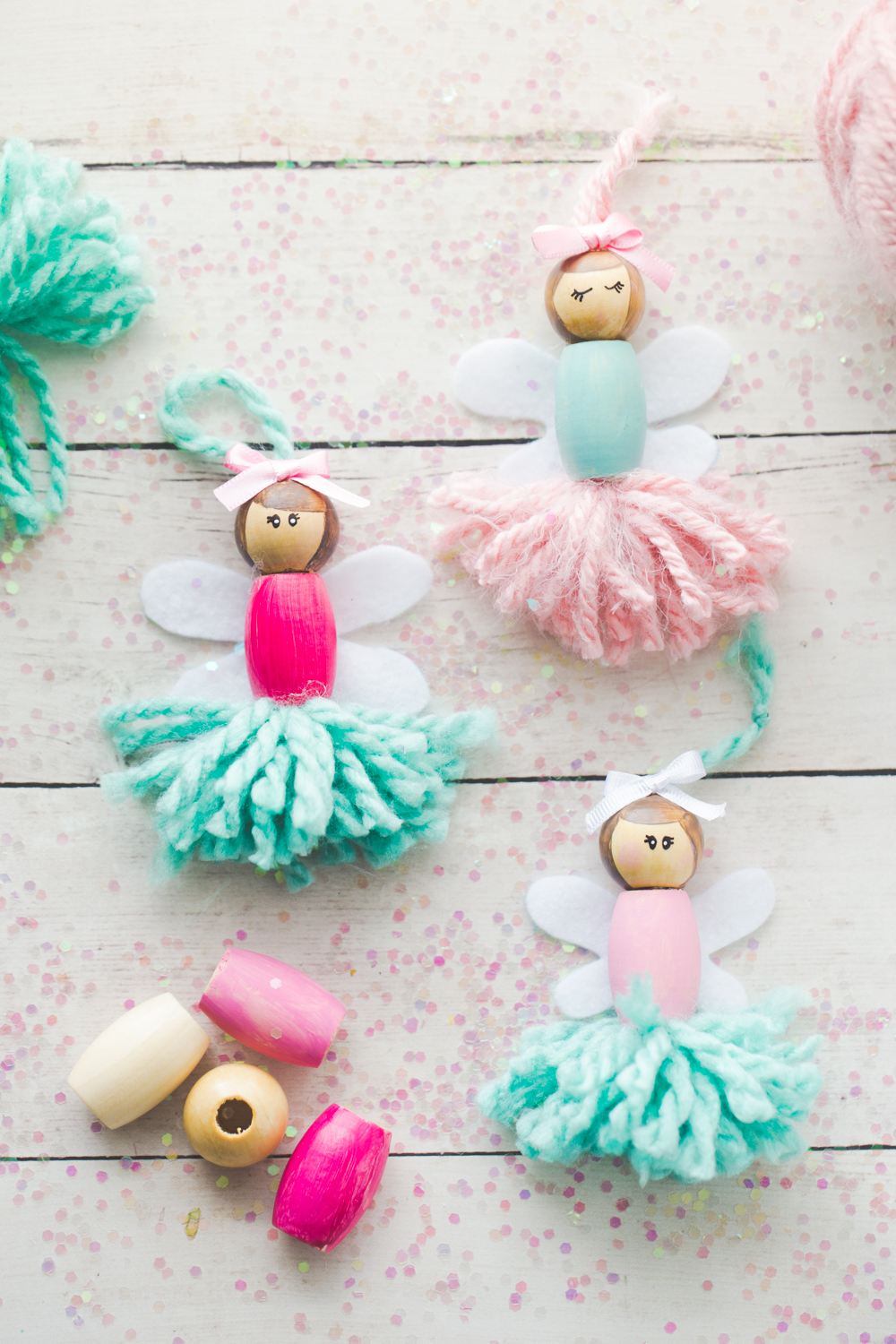 blog made to be a momma these pom pom ballerina fairies are the sweetest project for any little girl they make great little bookshelf decorations or ornaments