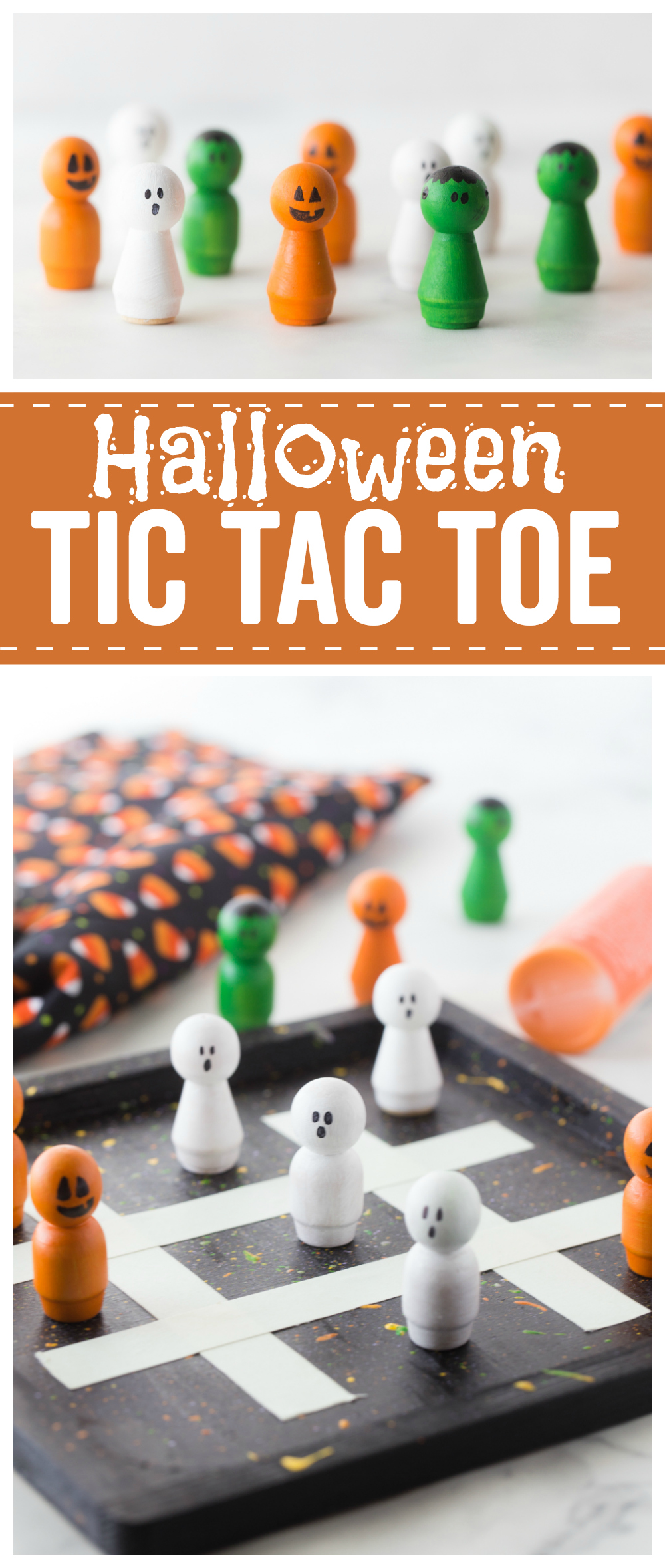 This Halloween Tic Tac Toe game is a fun activity for kids and adults alike.  You can enjoy it year after year!