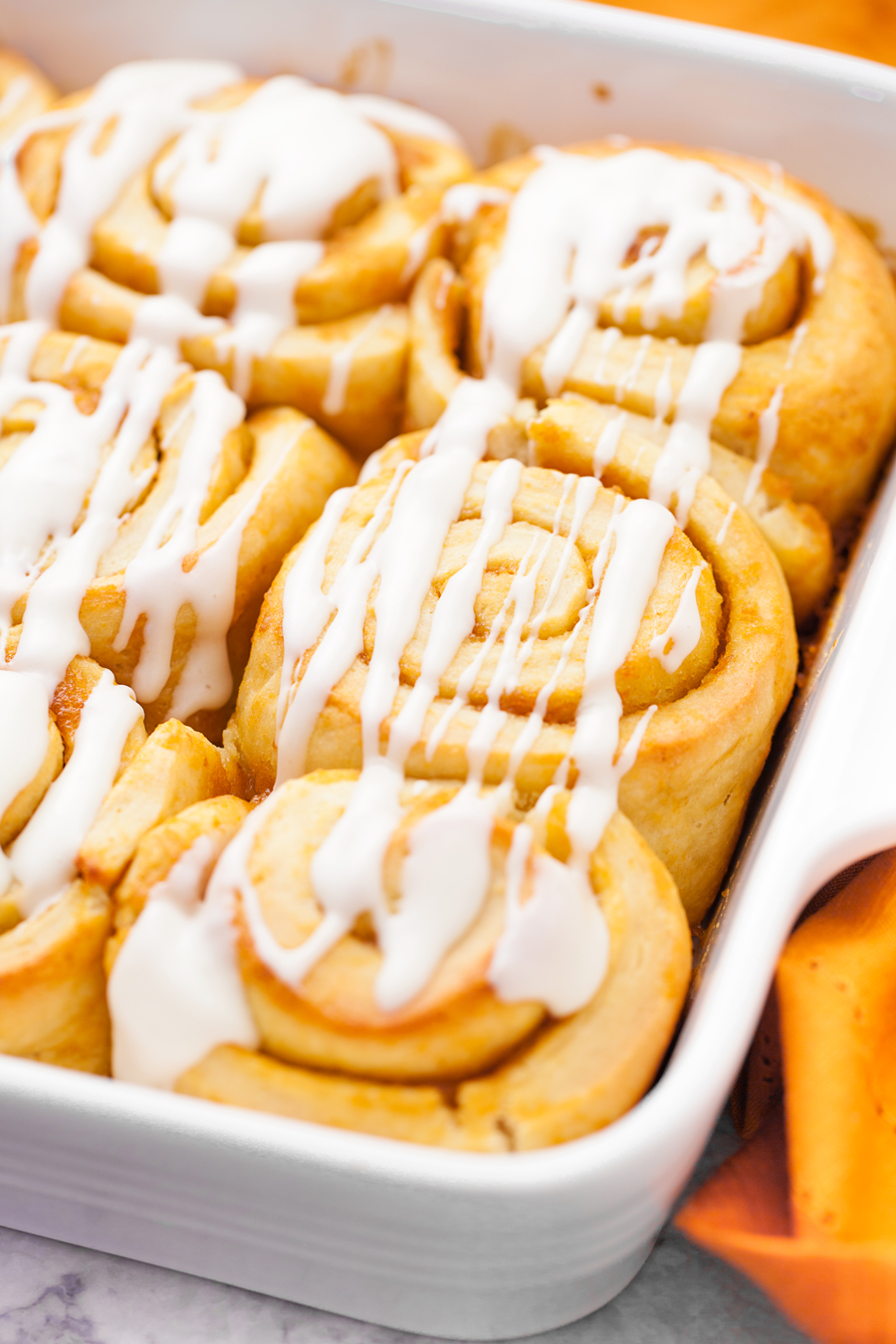 These Easy Pumpkin Cinnamon rolls are great for the fall season.  Pumpkin, cinnamon, and 60 minutes later you have a delicious treat!