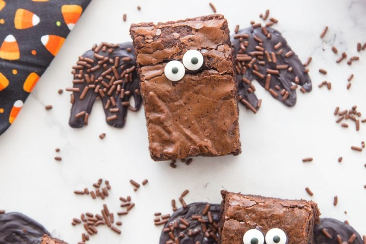 Halloween Brownie Bats