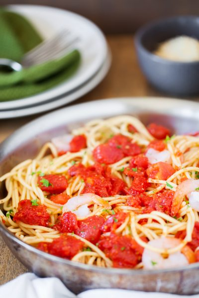 Tomato Basil Shrimp Pasta