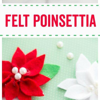 Felt Poinsettia